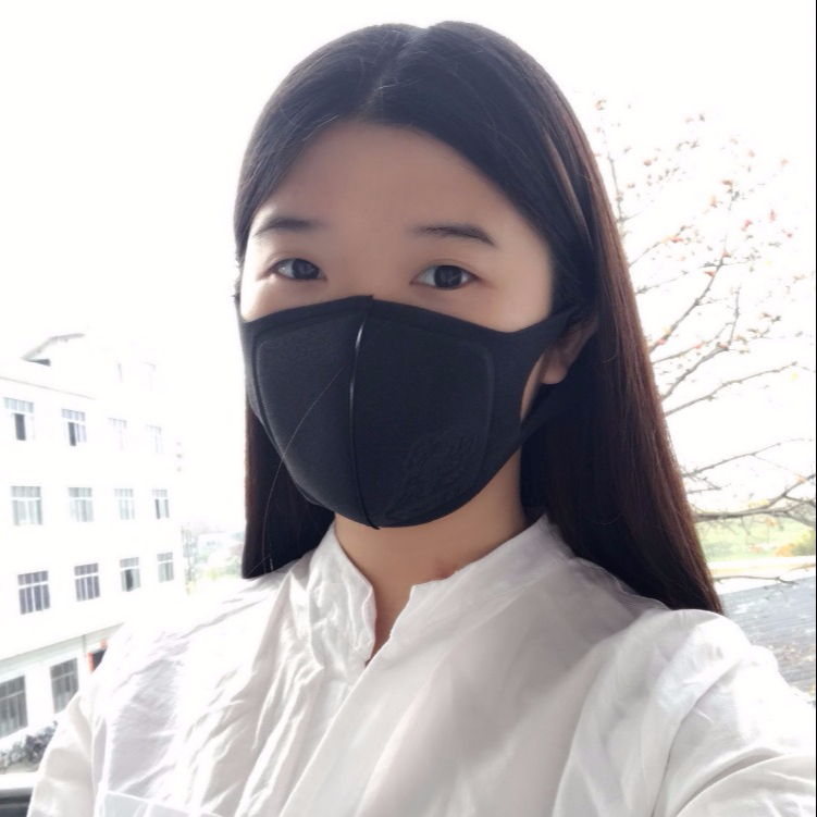 Black fashion washable face mask sponge pitta mask customized anti air pollution mouth and nose mask with active carbon