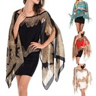 Womens Bikini Beach Wear Cover Up Clothing Printed Colorful Beachwear Kaftan