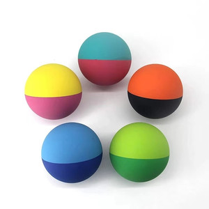 Hollow 45/57/60/65/70/75/92 mm High Bounce Exercise Squash Ball Cricket Ball Pet Ball