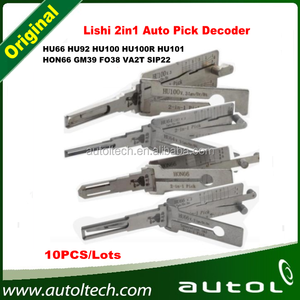 (10PCS/Lots) Lishi 2in1 HU66, HU92. HU100, HU100R, HU101, HON66, GM39, FO38, VA2T, SIP22 Pick Decoder From Locksmith Supplier