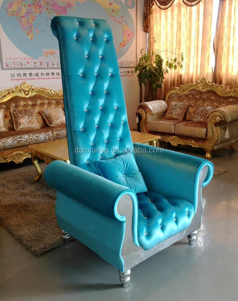 Exotic Living Room FurnituresBlue CouchBaroque High Sofa Chair