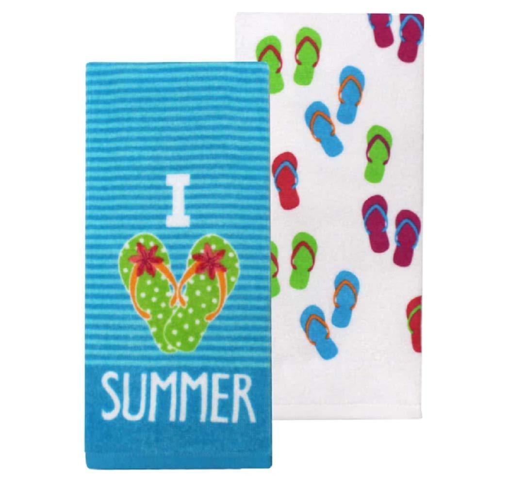 """Celebrate Summer Together """" I Love Summer Kitchen Towels - 26"""" x 16.5"""""""