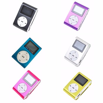 Portable android phone accessories MP3 LCD Screen Metal Mini Clip MP3 Player With display screen sport mp3 Music players walkman