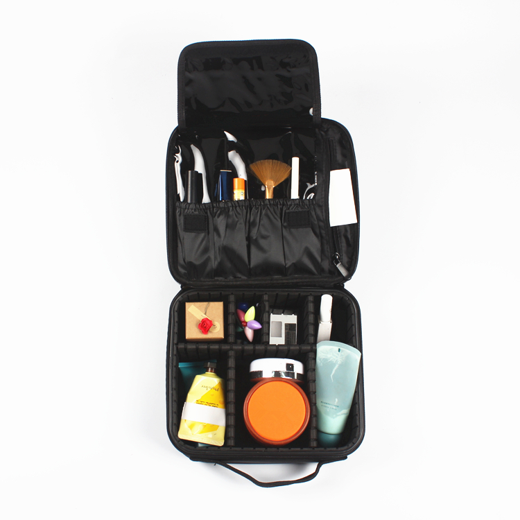 Makeup Train Case with Adjustable Dividers for <strong>Cosmetics</strong> Travel Makeup Case