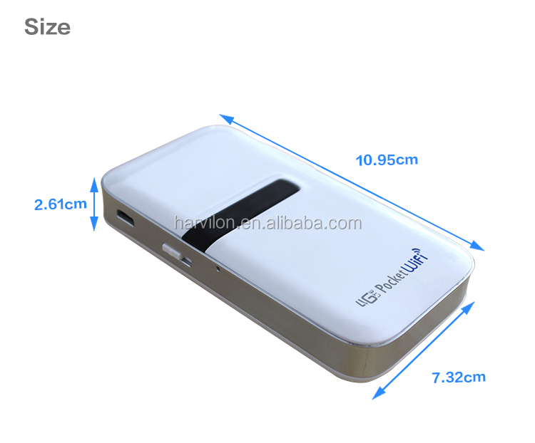 150M Built-in Antenna Sensitive 4G LTE Power Bank Router with SIM Card Slot