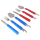Creative Multifunction Tableware Aluminum Handle Knife Fork Spoon Tableware Set Factory Direct Sale