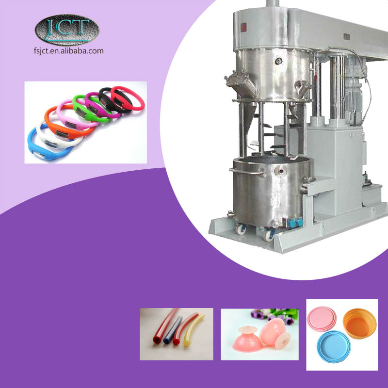 JCT fake silicone breast forms planetary mixer