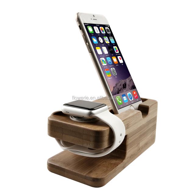 Fl3621 Houten Desktop Voor Apple Horloge Opladen Stand,Stand