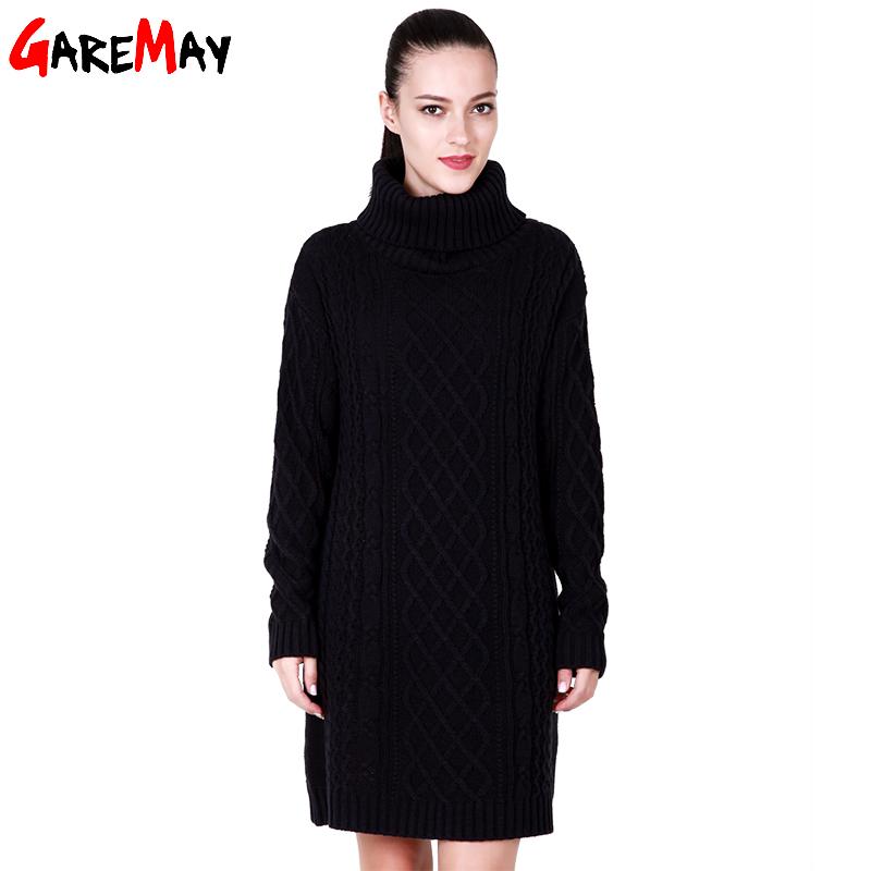 Compra cuello alto vestido de suéter online al por mayor