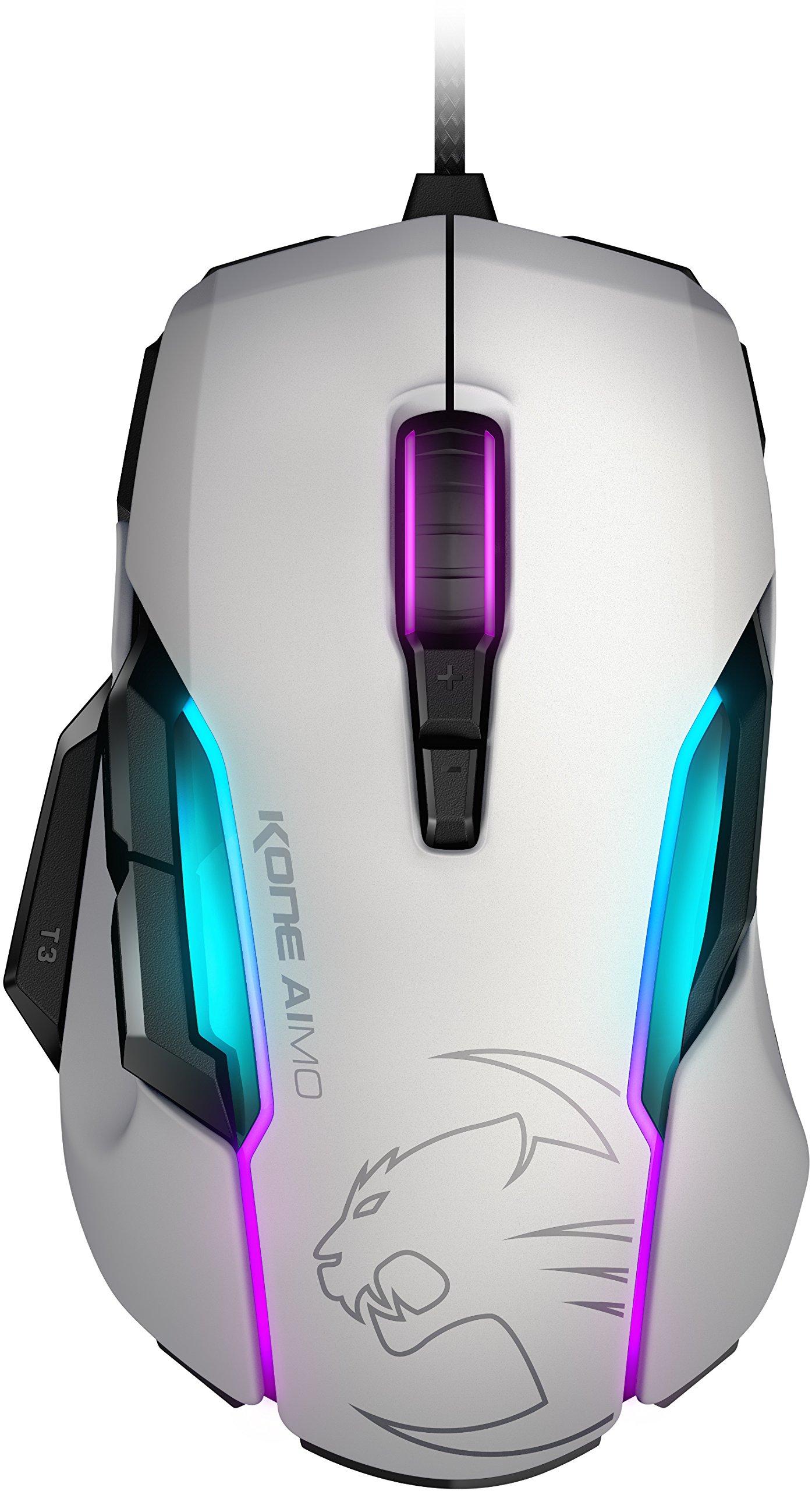 ROCCAT KONE AIMO - RGBA Smart Customization Gaming Mouse, White