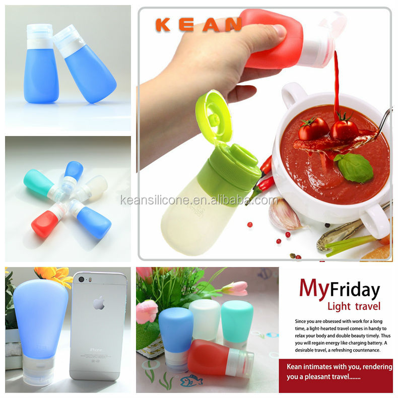 Honey Squeeze Tube/ Squeezable Portable Leak-proof Silicone Honey Bottle
