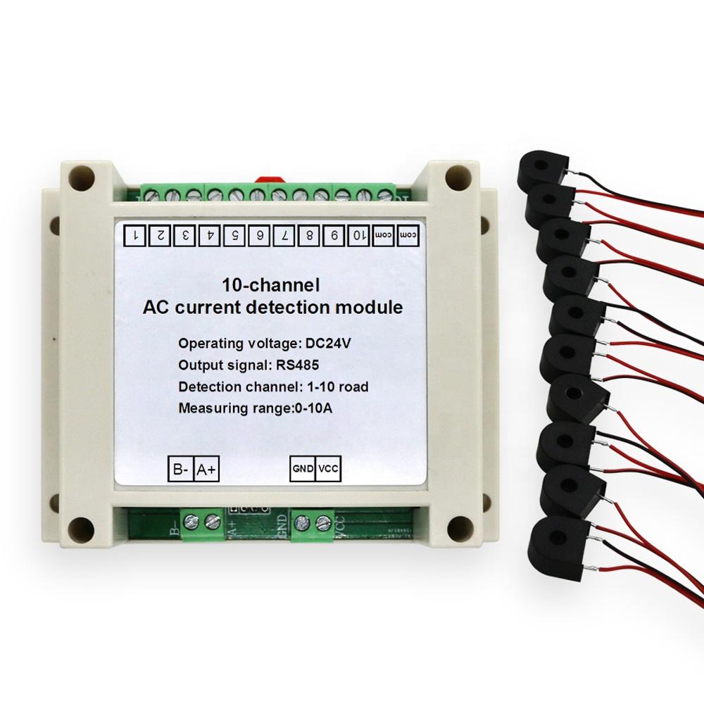 RS485 Sortie Module D'acquisition Gamme Détection 10 multicanal AC 5A 50A 10A 20A capteur Transmetteur De Courant