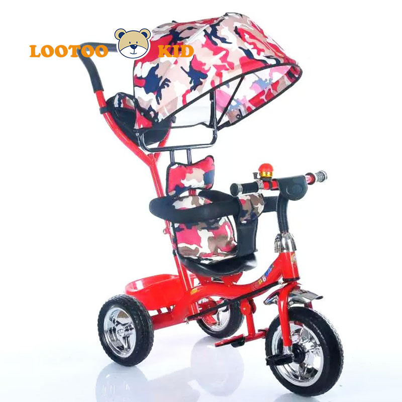 China 3 EVA wheel triciclo kids baby / little tikes stroller tricycle / baby tricycle with canopy