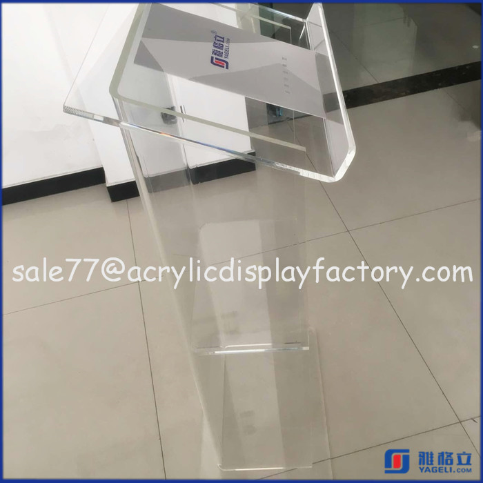 School acrylic podium pulpit lectern business speech stand,Podiums For Sale,Clear Acrylic Lectern