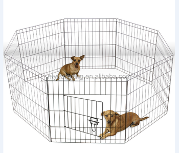 Wire Fence Pet Dog Folding Exercise Yard Metal Playpen