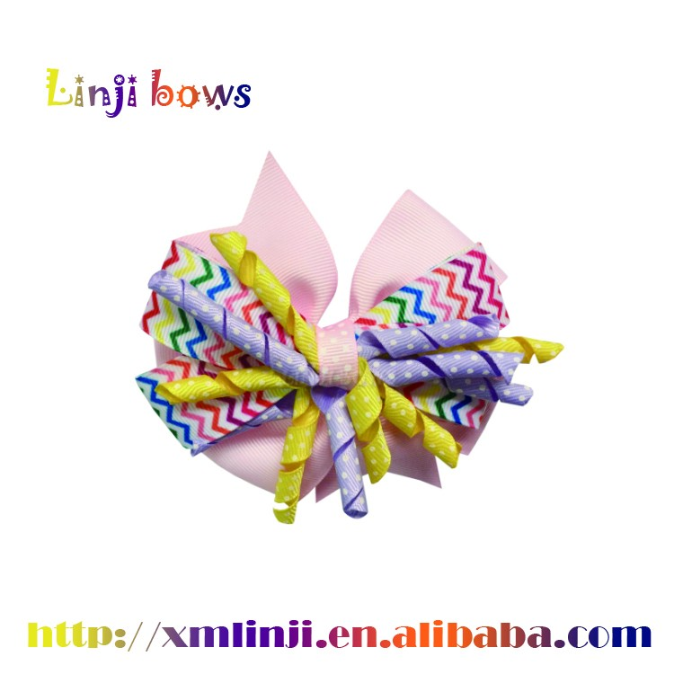 2017 wholesale dot grosgrain cheerleading Hair Bows/Hair Accessories for Kids