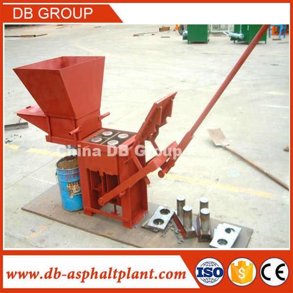 QMR2-40 Kenya Soil Cement Manual Interlocking Brick Making Machine