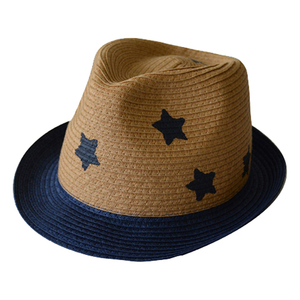 12f2153e28c93 52cm Star Prints Casual Outdoor Trilby Hats