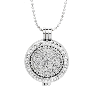 Wholesale Full Rhinestone Interchangeable Coin Pendant For Coin Holder Necklace PJM025-ATSL-W