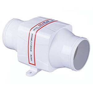 "SEAFLO 3"" In-Line Marine Bilge Air Blower 12V 130 CFM Quiet Boat White"