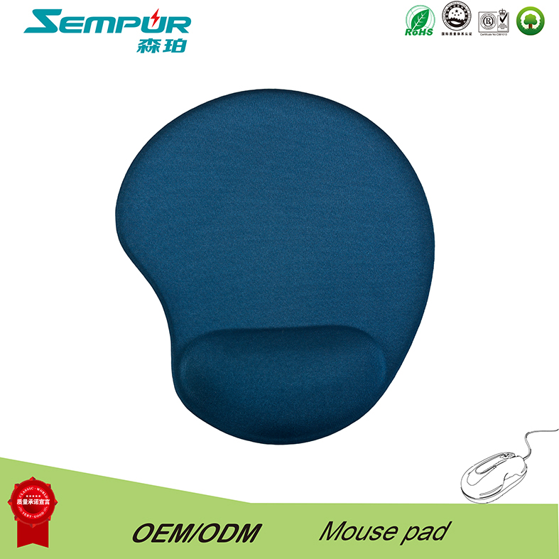 Sempur gel mouse pad with wrist rest