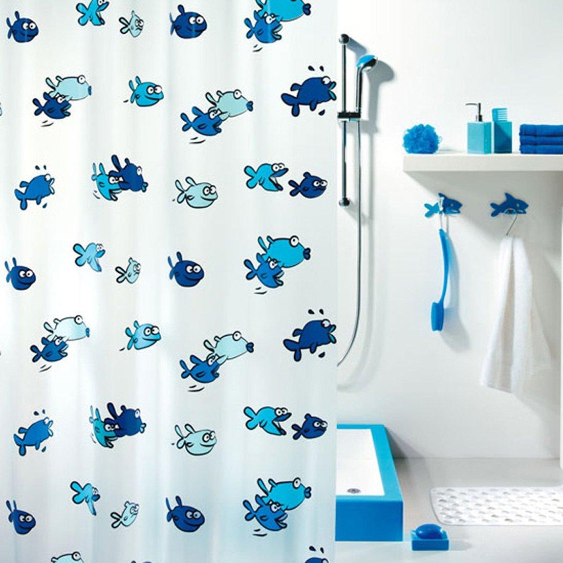 Buy Fashion Spirella Cartoon Fish Shower Curtain Waterproof Bathroom ...