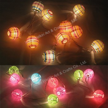 Decorative Mini Paper Chinese Lanterns For String Lights