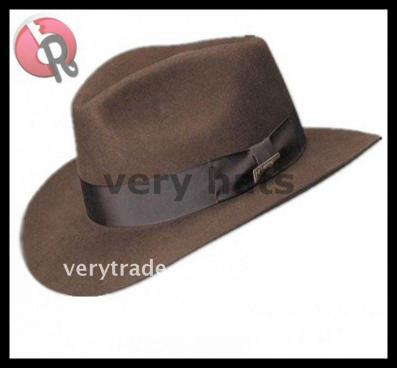 Indiana Jones Wool Felt Fedora Hat 87f67f3972f2