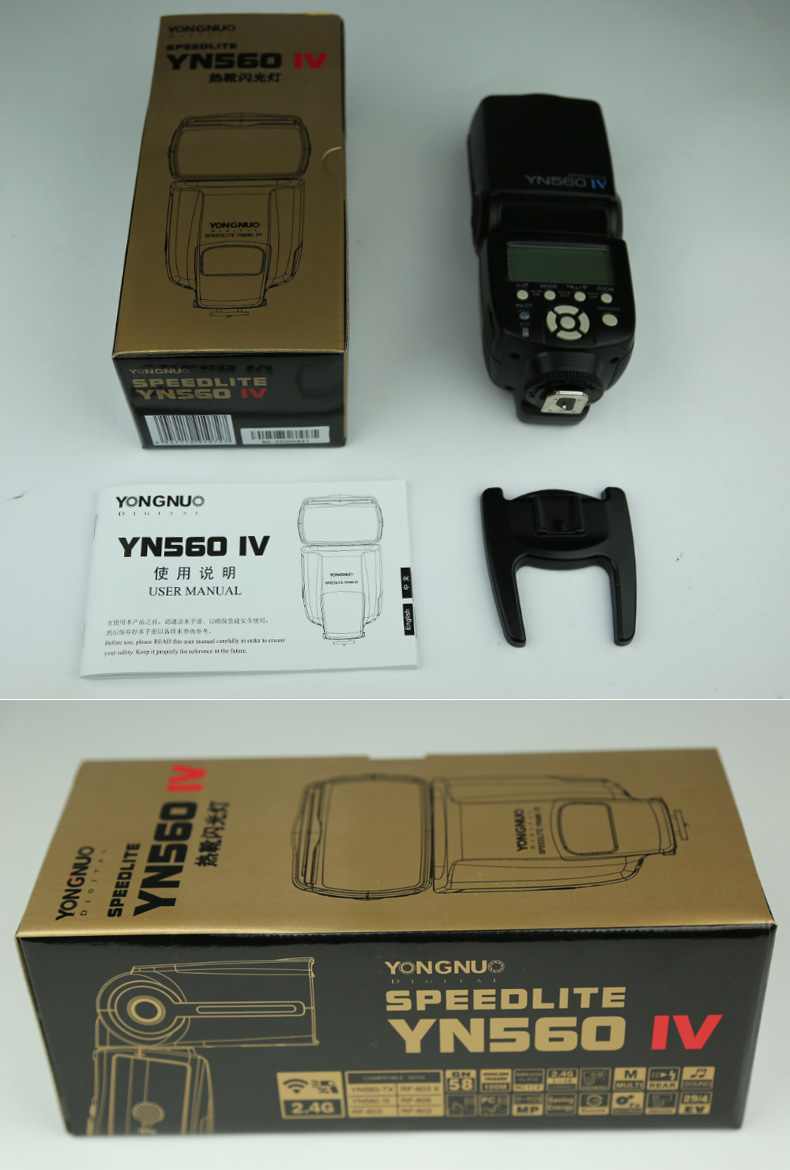 2016 new arrival YONGNUO YN560 IV wireless speedlite universal size use for Canon for Nikon for Pentax