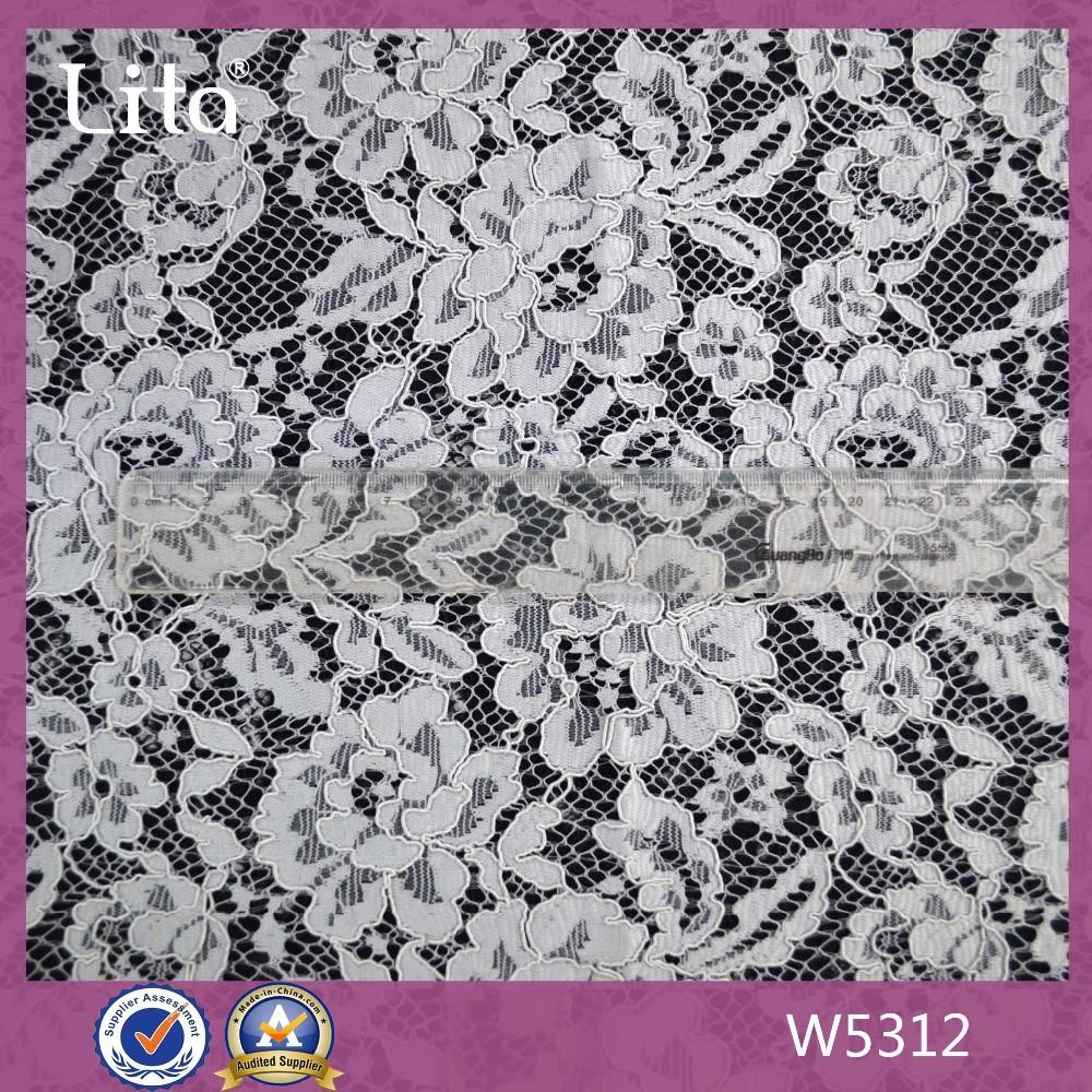 fleur rouge en dentelle guipure tissu en voile de tissu de type de produit de type haute. Black Bedroom Furniture Sets. Home Design Ideas