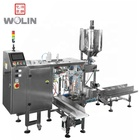 Liquid pouch filling packing machine with liquid filling pump for milk mineral water oil degergent with spout pouch