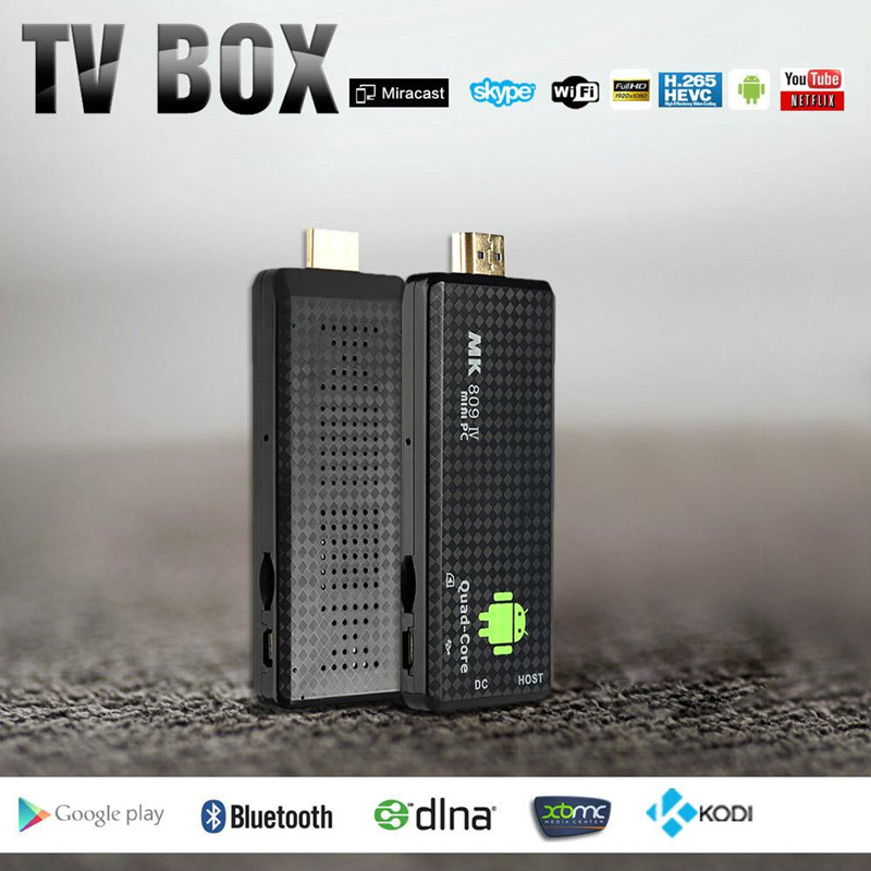 WiFi 4K <strong>TV</strong> <strong>Dongle</strong> MK809 IV Android 4.4 <strong>TV</strong> <strong>Stick</strong> XBMC DLNA RK3128 Quad-Core 1G / 8G Full HD Mini PC H.265