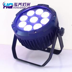IP65 waterproof 9*18w RGBAW UV 6in1 wireless led par can light dmx battery operated