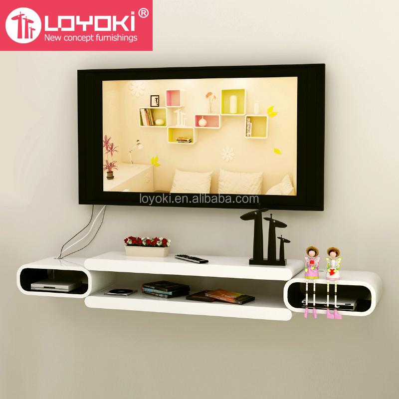 nueva asamblea diy de montaje en pared tv consola estante flotante pared para decoracin tv