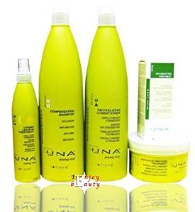UNA Oxygenating Treatment Against Hair Loss Drops Rolland 3.17oz+Intensive Protein Treatment500ml+Revitalizing Conditioner 1000 mL+Compensating Shampoo 1000ml+Vitamin Leave-in Treatment 250 mL by Vidimear