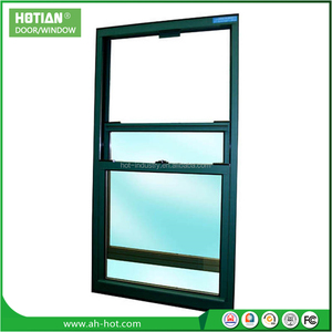 Factory price aluminum vertical sliding window design american style double hung window