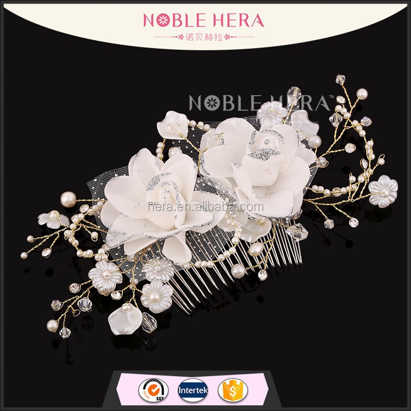Handmade Wholesale decorative Rhinestone Flower Bridal Hair Combs