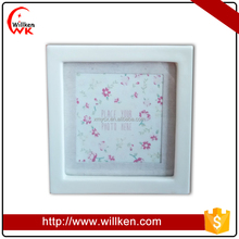 Simple design glazed white ceramic photo frame