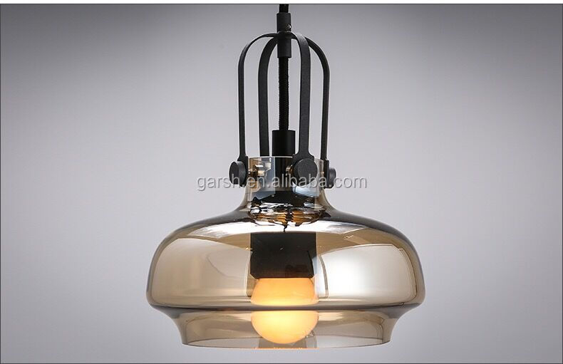 Industriële glas keuken opknoping lichten glasvezel vintage