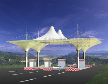 Awning Gate Awning Membrane Structure Highway Toll Booth