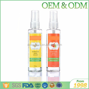 OEM/ODM factory supply hydrating body splash Fine Fragrance Mist Spray Perfume Body Mist