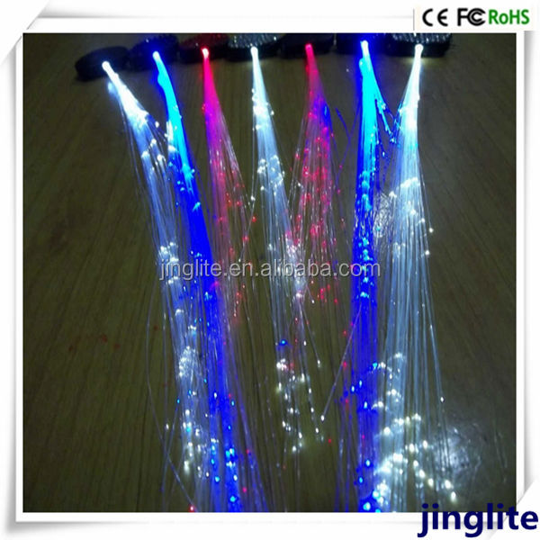 Fancy Hair Accessories Led Hair Light Party Wigs Red And Blue Colorful Hair Wigs