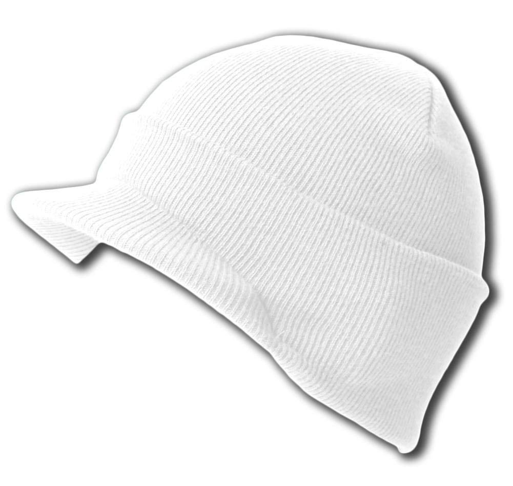 Get Quotations · New White Blank Cuff Winter Beanie Visor (Comes In 18 Different  Colors) 4b609ec088c2