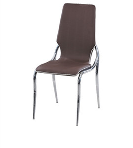 Modern colorful plastic leather dining room chair