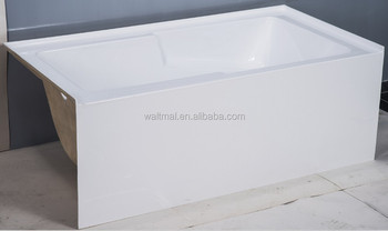 Acrylic Bathtub With Integrated Skirt With Tile Flange On 3 Sides ...