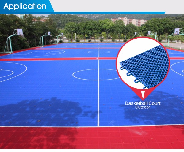 100 new pp synthetic good costs interlocking outdoor for Cost of sport court