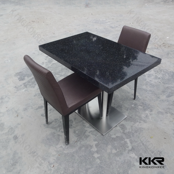 Chinese restaurant quartz stone top dining tables buy for Quartz top dining table