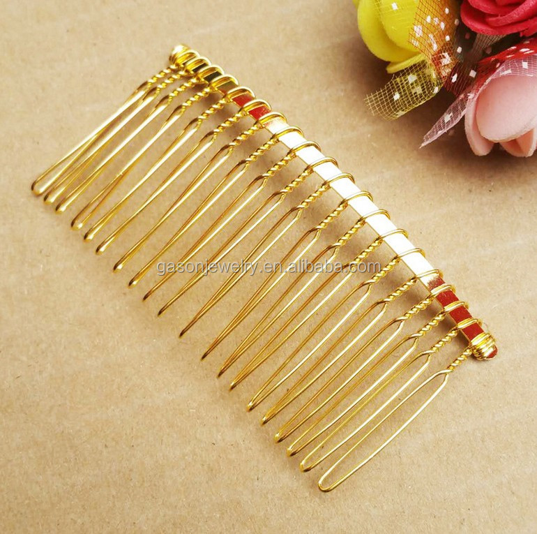 Mixed free customized color mixed hair comb for bridal veils