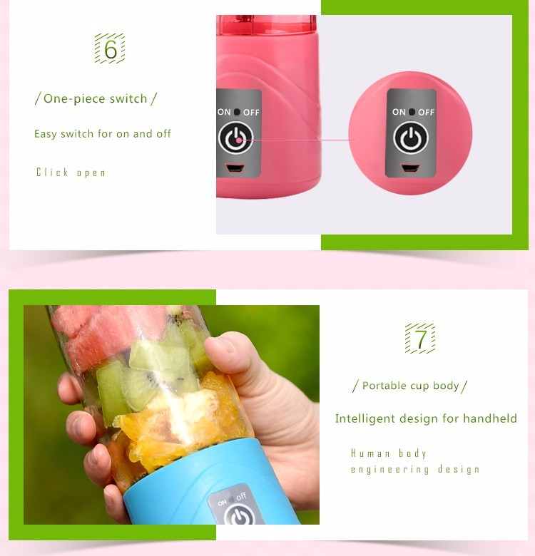mini blender with magic plate protection system portable juicer blender