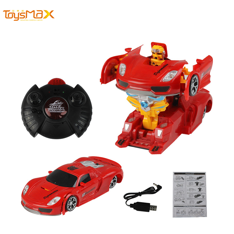 2019 Children Funny Cheap Rechargeable 4 Channel Remote Control Transformative Wall Climbing Car deformation car